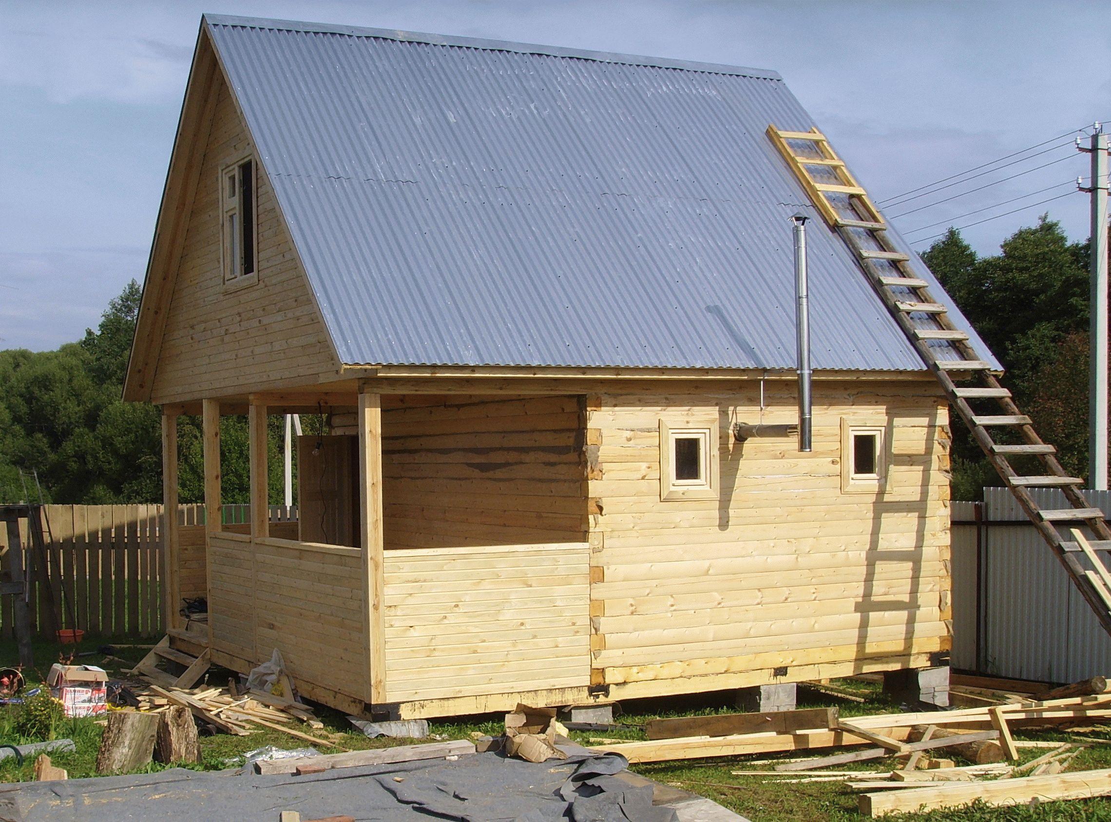 Из чего недорого построить дачный домик своими руками 78
